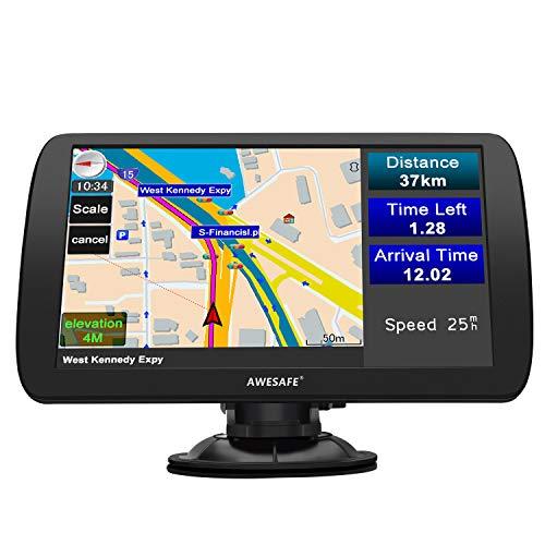 GPS Voiture GPS Poids Lourds de 9 Pouces Écran HD Couvrant 48 Pays en Europe avec Bluetooth et...