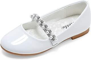 Girls Mary Jane Shoes Slip-on Party Dress Flat...