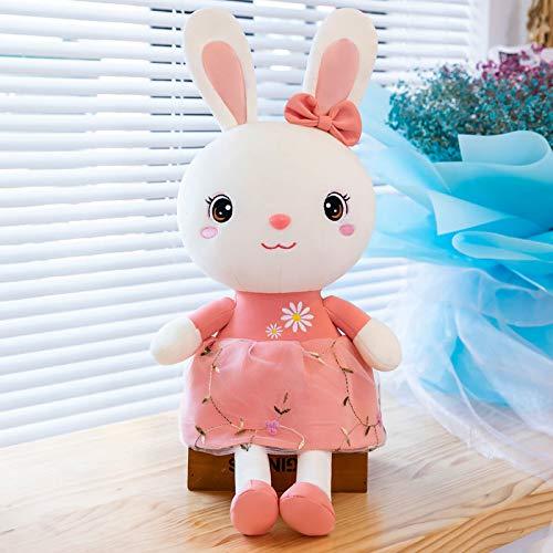 WYSTLDR Muñeca de Conejo Dulce Almohada de Peluche, muñeca de Trapo de Conejo de corazón de niña, Enviar Regalo de cumpleaños de niña Conejo Dulce Rosa 115 CM