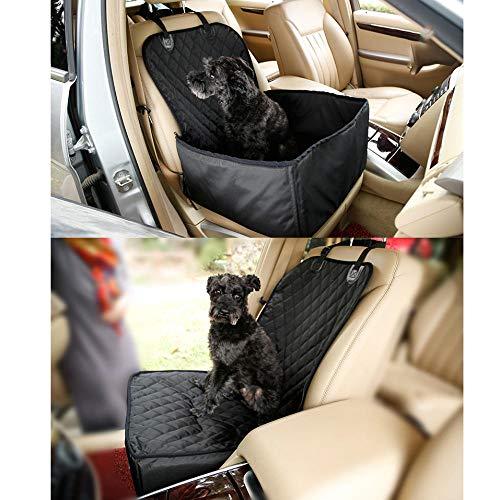 Funda para Coche Mascotas Negro Manta Perro para Mascotas y Niños con Cinturón de Seguridad para Mascotas y Bolsa de Almacenamiento, Impermeable, Lavable, Antideslizante, Se Adapta a Todos Los Vehícu