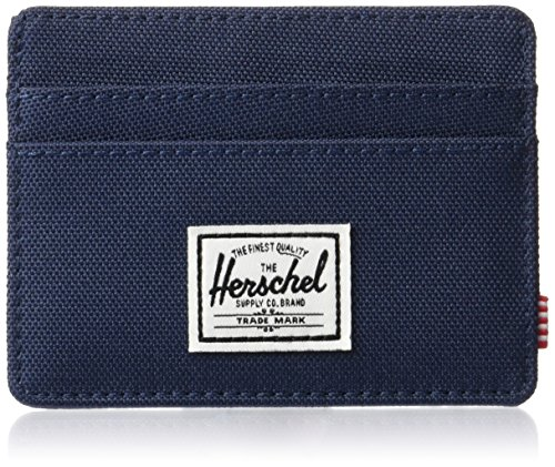Herschel Charlie RFID Card Case Wallet, Navy, One Size