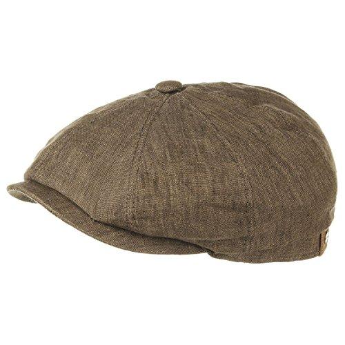 Stetson Hatteras - Gorra plana de lino para mujeres/hombres con forro de...