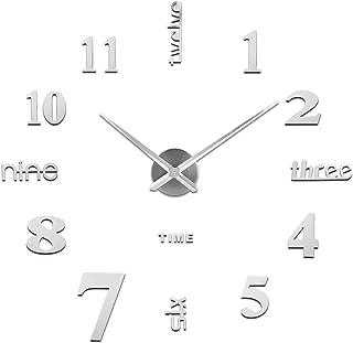 SOLEDI Reloj de Pared 3D, DIY Reloj de Etiqueta de Pared