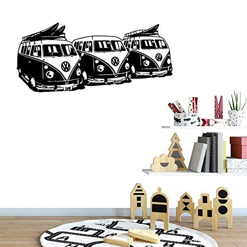 tzxdbh Cartoon Autos muursticker vinyl zelfklevend behang voor kinderen kinderkamer muurkunst sticker 30 * 67 cm