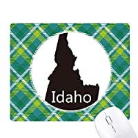 アイダホ州はアメリカ合衆国のアメリカ マップ 緑の格子のピクセルゴムのマウスパッド