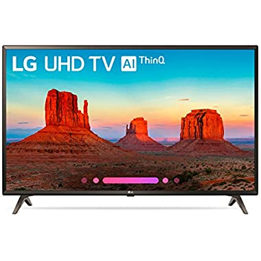 LG 43UK6300PUE 43-Inch 4K Ultra HD Smart LED TV (2018 Model)