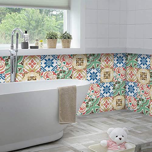 Yoillione Pegatinas autoadhesivas para azulejos de baño, resistentes al agua, 20 x 20 cm, para azulejos de cocina, adhesivos decorativos de vinilo para salpicaduras, 20 x 20 cm