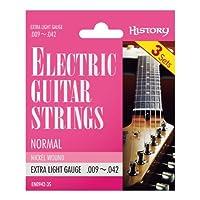 HISTORY EN0942-3S エレキギター弦 3セットパック EX-LIGHT (ヒストリー)