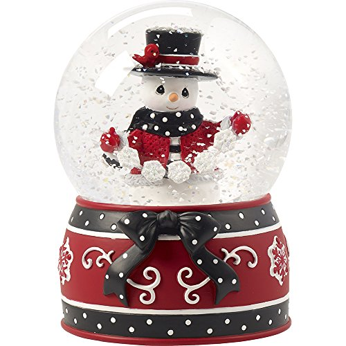 Precious Moments May All Your Christmases Be White Eighth in Annual Snowman Series Resin/Glass Musical Snow Globe 171105