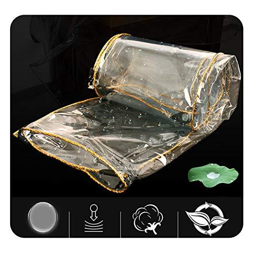 Lona MYAN Impermeable, Toldo Transparente Tarea Pesada PVC Resistente Al Desgarro Impermeable para Mueble Cubrir, Techo Pabellón (Color : Clear, Size : 1M X 3.2M)