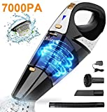 Hikeren Handheld Vacuum, Rechargeable Cordless Handheld Vacuum with 7KPA Strong Suction, Wet&Dry Hand Vacuum, Lightweight Portable Vacuum Cleaner for Home Car Pet Hair, Gold