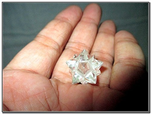 Genuine Crystal Quartz 12 Point Star Merkaba A++ Chakra Radionic Platonic Pranic Brazilian Power Protection Vastu Healing Feng Shui Energy