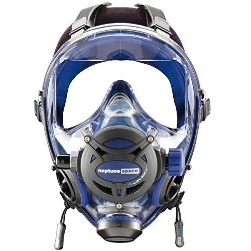 OCEAN REEF Neptune Space GDivers Integrated Full Face Diving Mask, Cobalt, Small/Medium