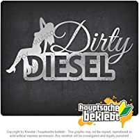 ダーティーディーゼルデザイン2ダーティー Dirty Diesel Design 2 Dirty 20cm x 10cm 15色 - ネオン+クロム! ステッカービニールオートバイ