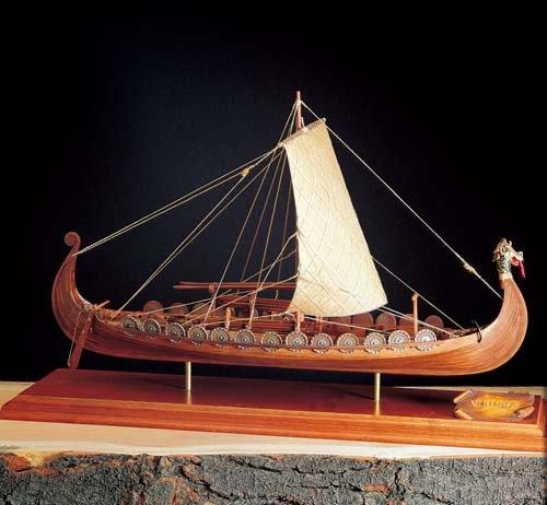 輸入木製帆船模型 アマティ AM1406-01 バイキングシップ 和訳付