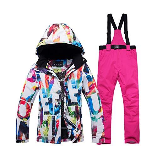 WYPG Épais Chaud Ski Suit Femmes Imperméable Coupe-Vent Ski Et Snowboard Veste Pantalon Ensemble Femme Neige Costumes Vêtements De Plein Air