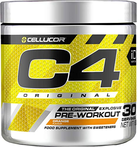 Pre-workout Powder C4 Original Orange Burst | Sugar Free Pre-workout Energy Drink Supplement for Men & Women | 150 mg Cafeïne + Bèta-alanine + Creatine-monohydraat | 30 Doseringen