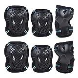SANFASHION Rollschuh-Schutzausrüstung Kinder Erwachsene Handgelenkschutz Reitknieschoner-Set (2 ×...