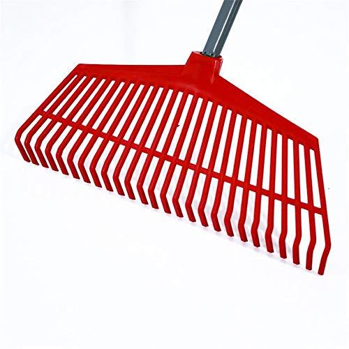 waterfaill Kunststoff-Rasenrechenkopf, 26 Zähne Gartenarbeit Kunststoff-Rechen, Geruchloses Und Ungiftiges Gartengerät, Moderner Laubrechen