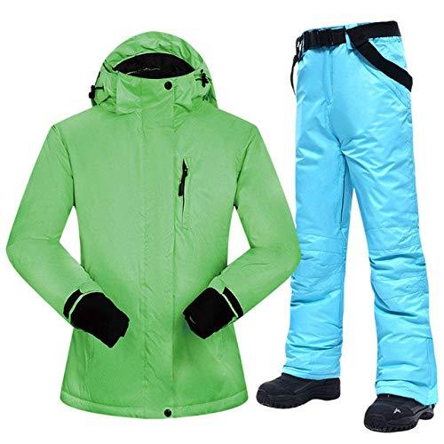 BEAUTTO Snowboardanzüge Frauen Winter Winddicht wasserdichte Damen Skijacke Und Schneehose Sets Super Warm Brands Damen Skianzug