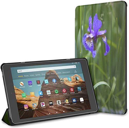 Estuche para Flor de Iris floreciente en un Prado Fire HD 10 Tablet (9.a / 7.a generación, versión 2019/2017) Fundas y Cubiertas para Tableta Kindle Fire 10 HD 10 Estuche para Kindle Fire Auto Wake /