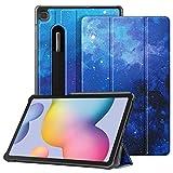 FINTIE SlimShell Funda para Samsung Galaxy Tab S6 Lite de 10.4' - Carcasa Fina con Bolsillo para S Pen con Función de Soporte y Auto-Reposo/Activación para Modelo SM-P610/P615, Cielo Estrellado
