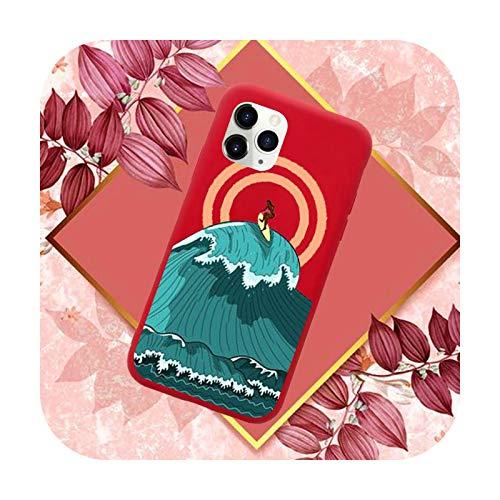 Hot Sea Wave Surf Summer Surf Ocean Phone Case Color Candy para iPhone 11 12 Mini Pro XS MAX 8 7 6 6S Plus X SE 2020 XR-a4-6Plus 6SPlus