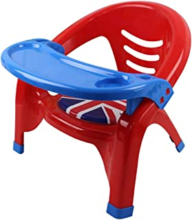 WSSBK Baby Plastic Children Eat Chair Seat Backrest Chairs Removable Plate Upset the Baby Chair