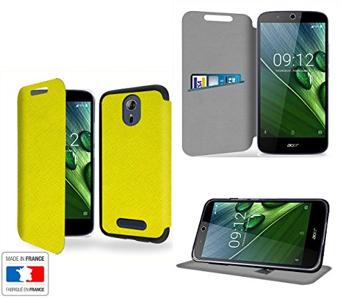 Case-Industry Vert Collection Exception Custodia Pelle Ultra Slim per Acer Liquid Zest Plus Smartphone con Stand - Flip Case Funda Cover Protettiva Acer Liquid Zest Plus PU Pelle Accessori