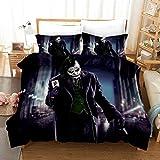 The Joker Bedding Twin Set Movie Clown Duvet Cover Sets Ultra Soft Microfiber Bedroom Decor for Boys Girls Kids