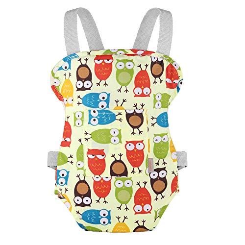 GAGAKU Baby Doll Carrier Stuffed Animals Carrier Doll Accessories with Criss-cross Straps for Kids – Green (Owl)