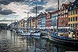 Puzzles Adultos 1000 Piezas Rompecabezas Copenhague, Dinamarca Art Painting Puzzle Decoración Rompecabezas Educativos Juegos De Bricolaje Brain Challenge Puzzle Sets