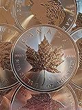 1onza oz Plata Maple Leaf 2018incuse a nosotros individualmente en cápsulas para monedas de regalo