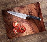 ChefMe! Damastmesser Set VG10 67 Lagen mit Micarta Griff, Kochmesser Officemesser - 7