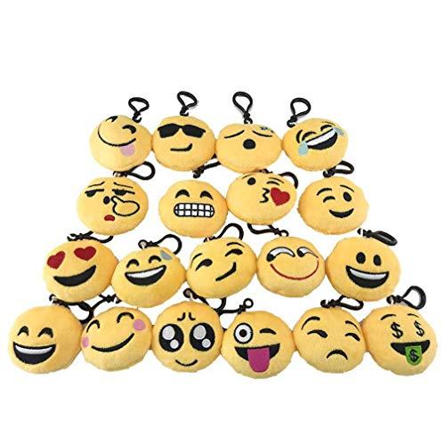 20 stks/partij 6 cm Nieuwigheid Glimlach Emoji Zachte Hanger Knuffels WhatAPP Emoji mini Toy