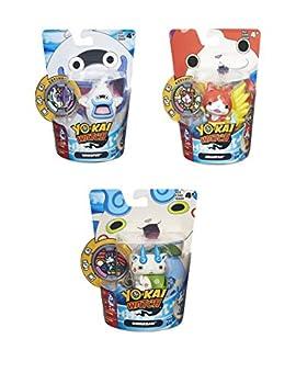 Yo-Kai Watch Medal Moments 3 Character Set Whisper Komansan and Jibanyan