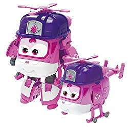 ❥[Genuine toys]: High-quality materials, sturdy and durable, not easy to damage, safe and non-toxic, and will not cause any harm. The super wing toy of the transformable robot is made for preschool super wing fans over 3 years old. No battery require...
