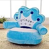 TINGTING Kuscheltier Kindersofa Kinder Sofa PP Baumwolle Füllen Cartoon Tier Faule Couch Plüschtiere Polstermöbel Baby Stuhl Geburtstagsgeschenk,Prince,A