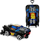 MaxToy Hot Wheels Night Shifter Luggage for Kids, Rolling Suitcase for Travel and School