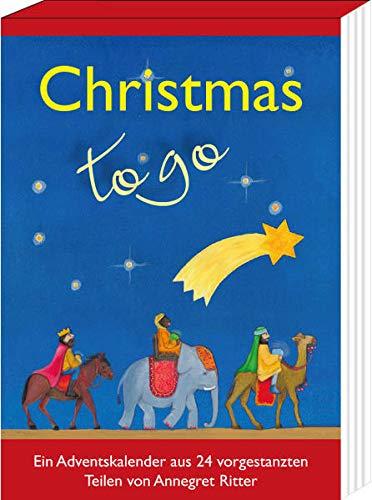 Christmas - to go: Ein Adventskalender aus 24 vorgestanzten Teilen (Adventskalender für Erwachsene: zum täglich Basteln)
