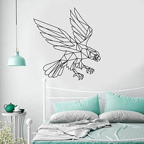 Etiqueta engomada geométrica de la pared de los animales del águila arte decoración del hogar para la sala de estar dormitorio decoración interior Mural calcomanías de pared A2 57x62cm