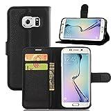 COPHONE® Custodia per Samsung Galaxy S7 EDGE , Custodia in Pelle compatibili Galaxy S7 EDGE nero. Cover a...