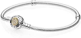 Pandora 590741CZ-18 Moments Two Tone Signature Bracelet for Women - 18 cm (590741CZ18)