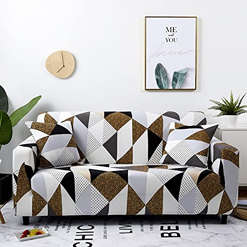 MKQB Funda de sofá elástica elástica, Funda de sofá Modular de Esquina en Forma de L, Funda de Chaise Longue, Antideslizante Envuelto herméticamente NO.15 L (190-230cm)