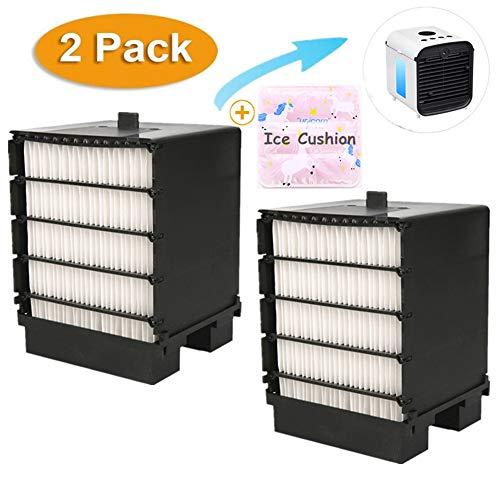 Nifogo Air Mini Cooler Filtro, Filtro Aire Acondicionado, Portátil Enfriador Filtro, Filter de Repuesto para Mini Climatización Fan (2 Pcs + Cojín)