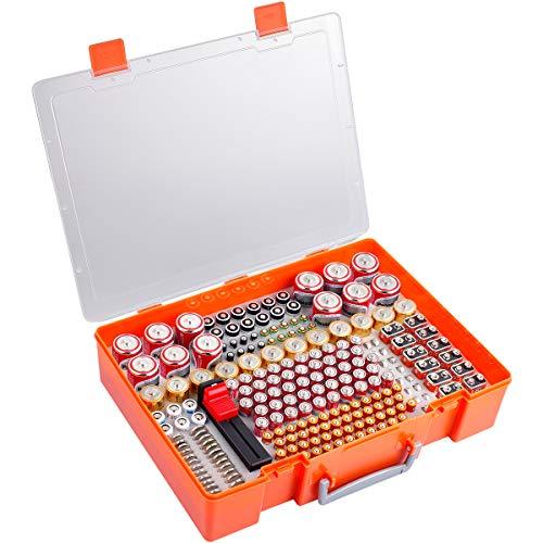 Batterie Aufbewahrungsbox, Batterien Aufbewahrung Organizer Tasche mit Batterietester. 226 Batterien Behälter Box Hält für AA AAA 9V C D 23A CR123 Lithium 3V LR44 CR2016 CR1632 CR2032 CR2025