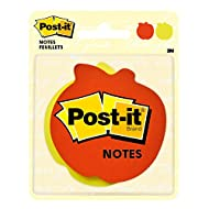 Post-it Super Sticky Notes, 3x3 in, 2X the Sticking Power, Apple Shape (7350-APL)
