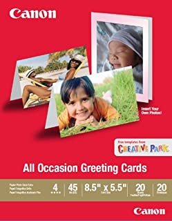 Canon All Occasion Greeting Card, 8.5 x 5.5 inches, 20 Sheets & Envelopes (0775B056)