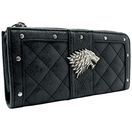 Game of Thrones Haus Stark Dire Wolf Portemonnaie Geldbörse Grau