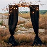 SAYUAN 394 x 53 inch Wedding Arch Draping Fabric Organza Table Runner for Wedding Backdrop Curtain Tulle Sheer Scarf Valance Table Swags Stairs Drapes Decoration - Grey
